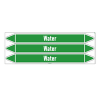Pipe markers: Heet water 130° | Dutch | Water
