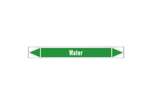 Pipe markers: Heet water 150° | Dutch | Water