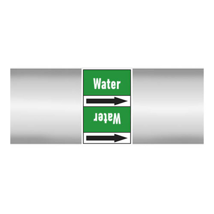 Pipe markers: Heet water 180° | Dutch | Water
