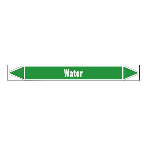 Pipe markers: Heet water 60° | Dutch | Water