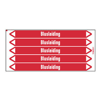 Pipe markers: Bluswater | Dutch | Blusleiding