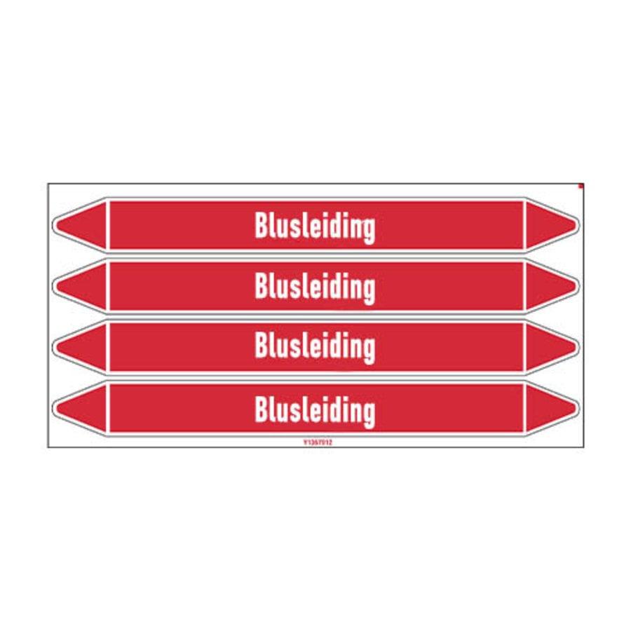 Pipe markers: Brandbluskoolzuur | Dutch | Blusleiding