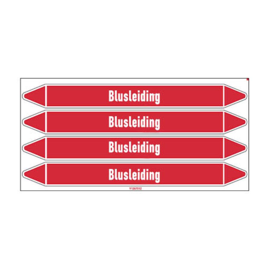 Pipe markers: Schuimbluswater | Dutch | Blusleiding