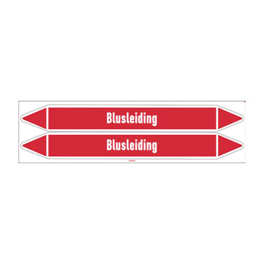Pipe markers: Sprinklerwater | Dutch | Blusleiding