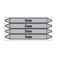Pipe markers: Hoge druk stoom | Dutch | Steam
