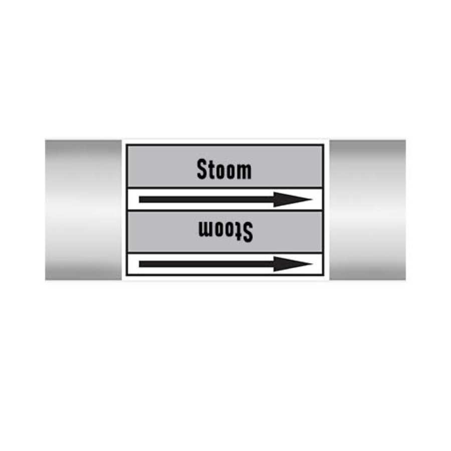 Pipe markers: LD stoom | Dutch | Steam