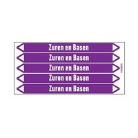 Pipe markers: Afvalzuur | Dutch | Acids and Alkalis
