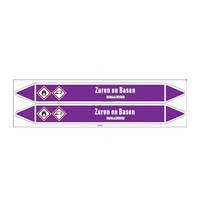 Pipe markers: Zwavelzuur 10% | Dutch | Acids and Alkalis