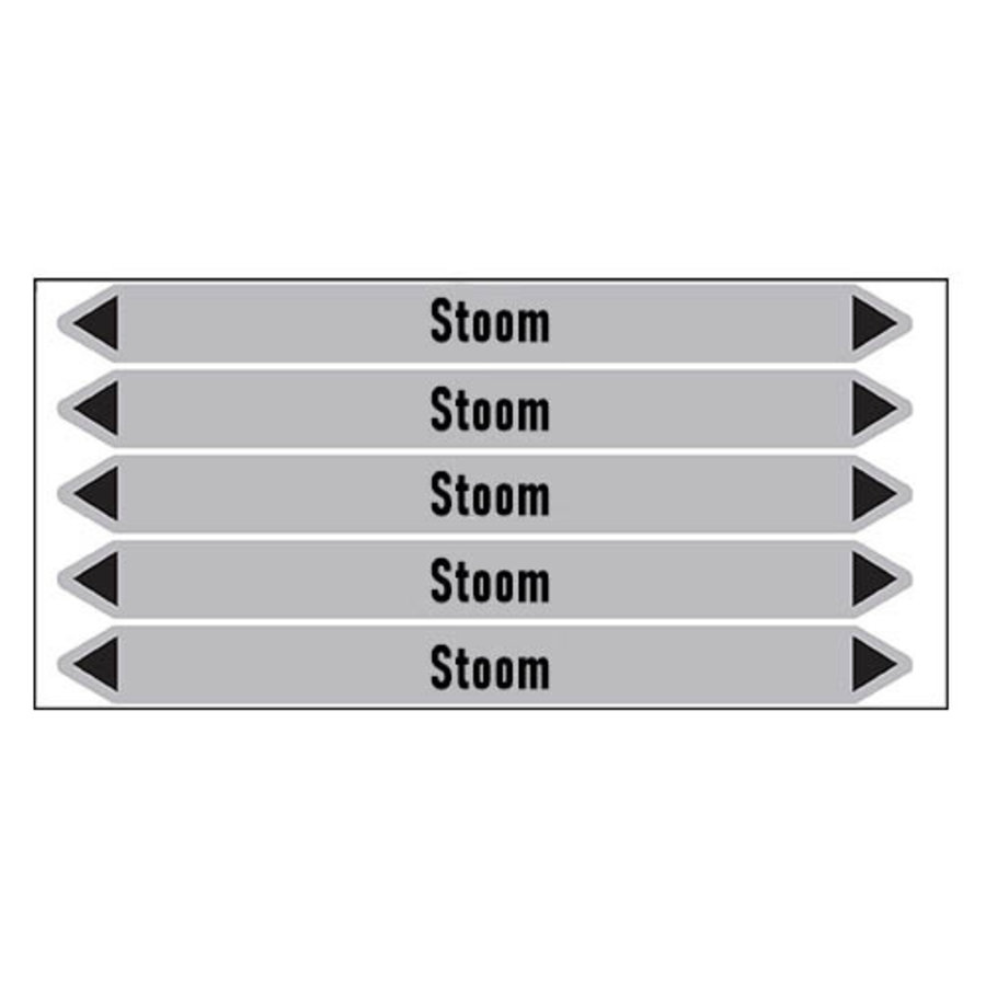 Pipe markers: stoom | Dutch | Steam
