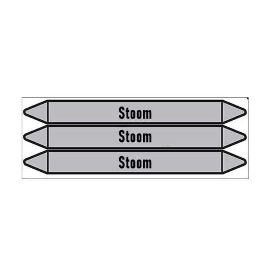 Pipe markers: stoom 0,5 bar | Dutch | Steam