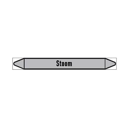 Pipe markers: stoom 1,5 bar | Dutch | Steam
