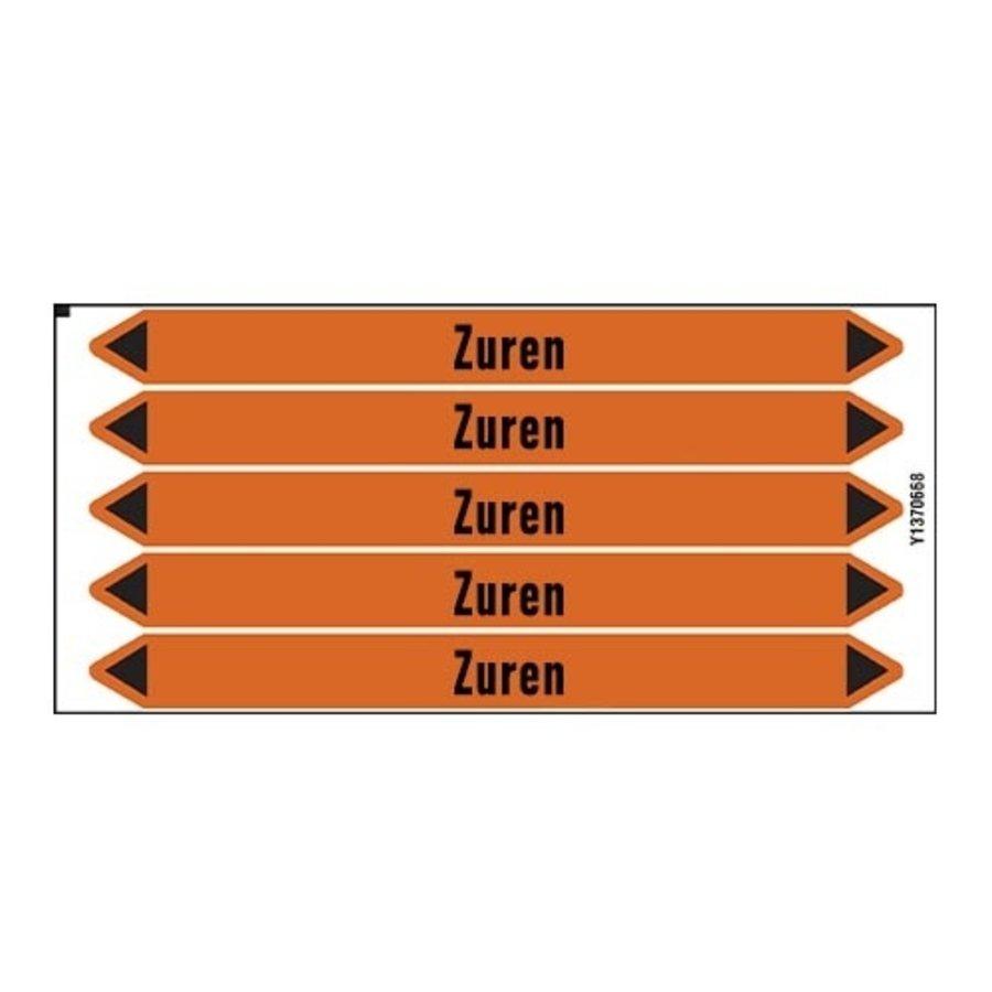 Pipe markers: Geregeneerd zuur | Dutch | Acids
