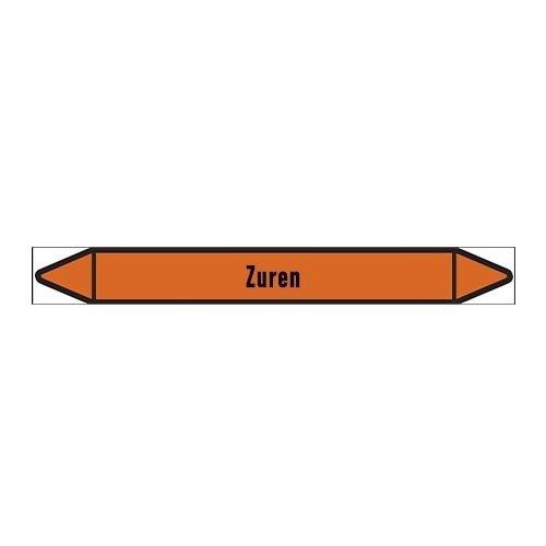 Pipe markers: Zuur   Dutch   Acids