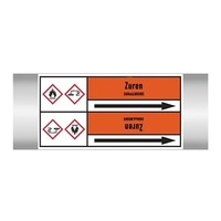 Pipe markers: HCl | Dutch | Acids