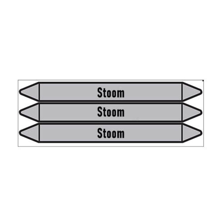 Pipe markers: stoom 3 bar | Dutch | Steam
