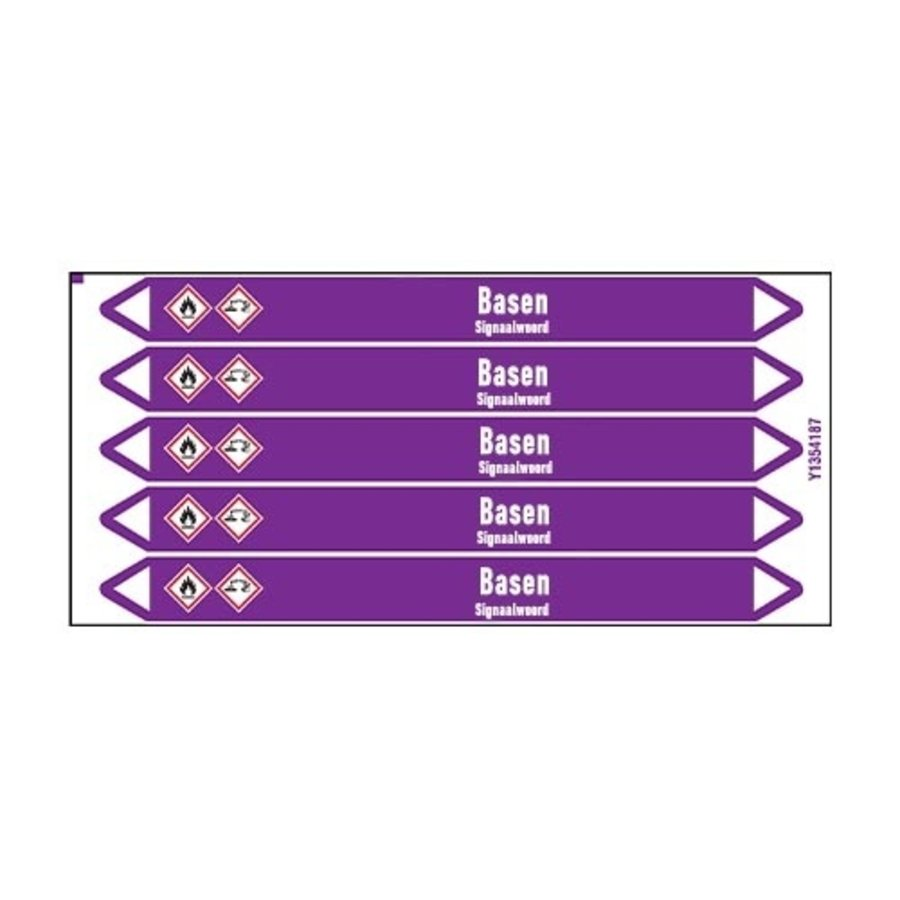 Pipe markers: Ammoniakwater (25%) | Dutch | Alkalis