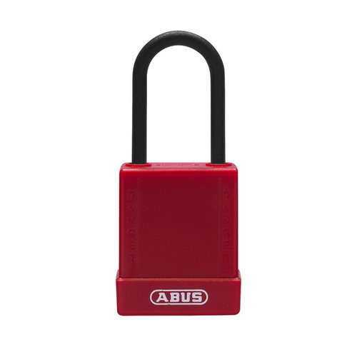 Aluminum safety padlock with red cover 76PS/40 red