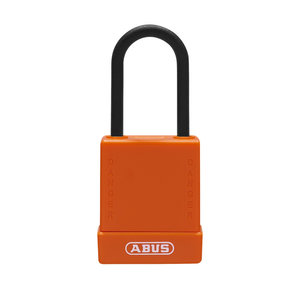 Abus Aluminum safety padlock with orange cover 84811