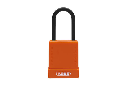 Aluminum safety padlock with orange cover 76PS/40 orange