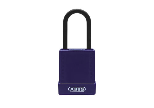 Aluminum safety padlock with purple cover 76PS/40 purple