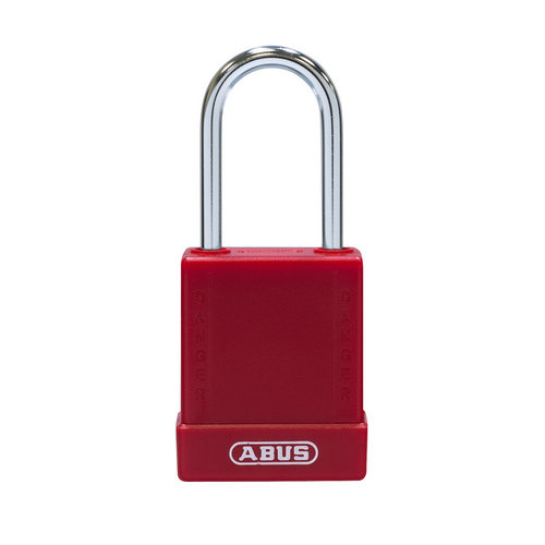 Aluminum safety padlock with red cover 76BS/40 red