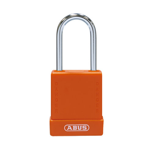 Aluminum safety padlock with orange cover 76BS/40 orange