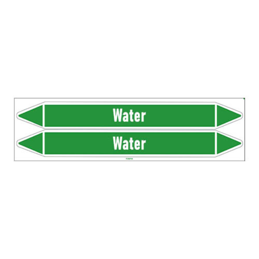 Pipe markers: Demineralised water | English | Water