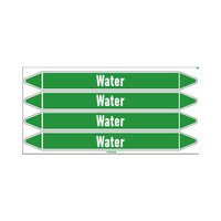 Pipe markers: Hot water 105°C | English | Water