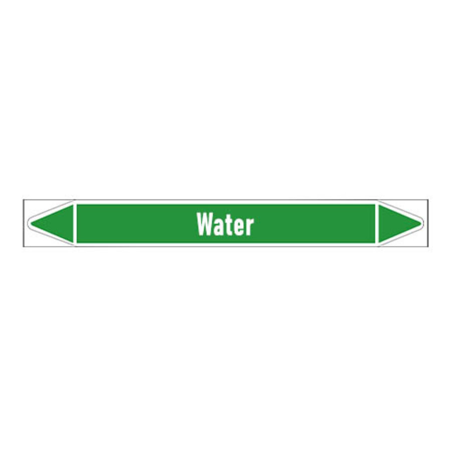 Pipe markers: Process water | English | Water