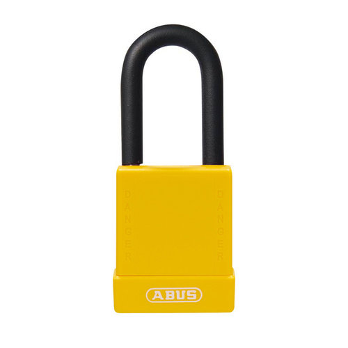Aluminum safety padlock with yellow  cover 76/40 yellow