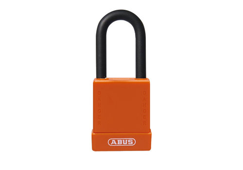 Aluminum safety padlock with orange  cover 76/40 orange