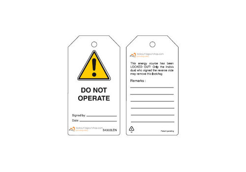 Rewritable Safety tags English Guardian Extreme