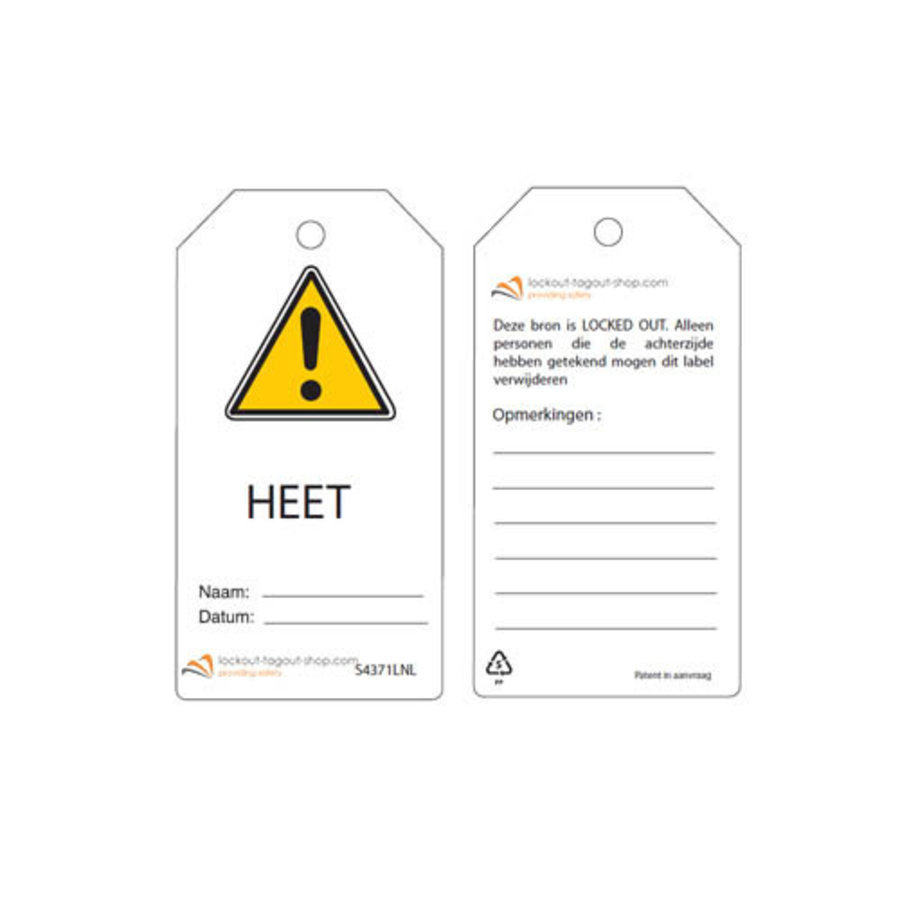 Rewritable Safety tags Dutch Guardian Extreme (10 psc)