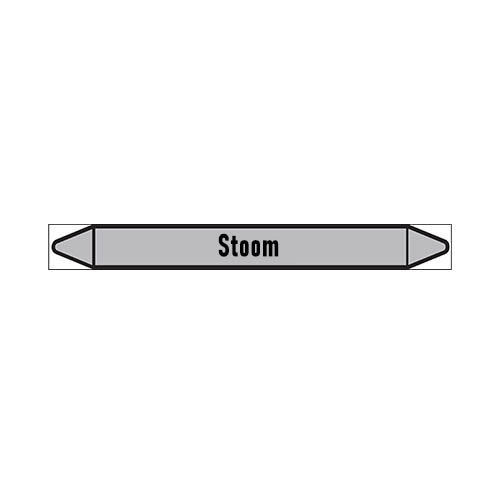 Pipe markers: Verzadigde stoom | Dutch | Steam