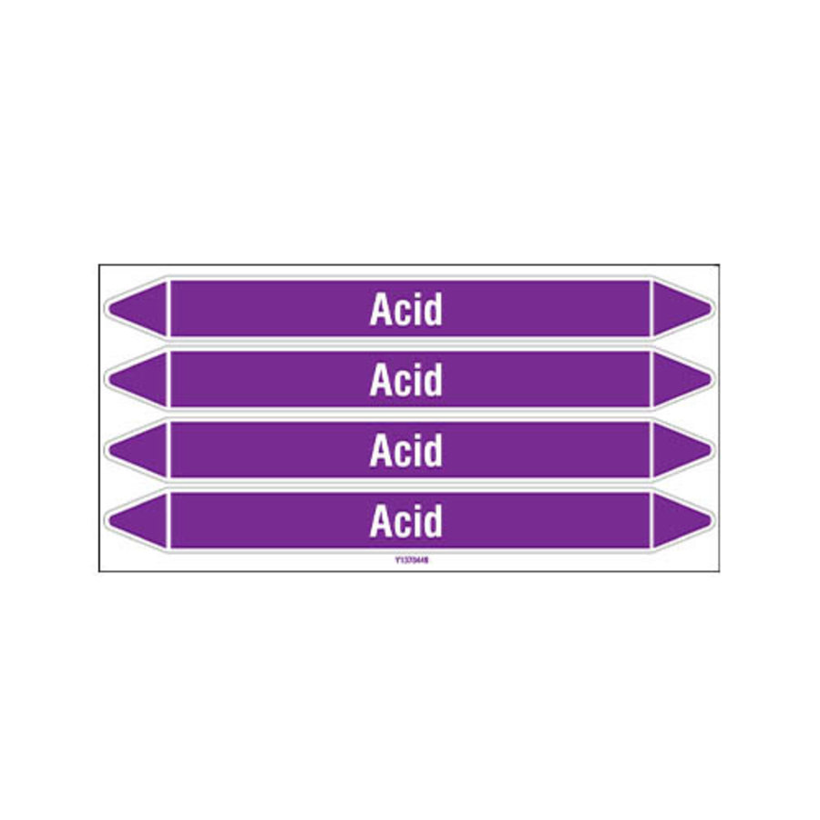 Pipe markers: Acid | English | Acids and Alkalis