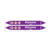 Pipe markers: Allylamine   English   Acids and Alkalis