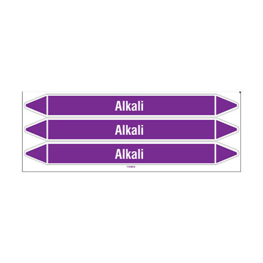 Pipe markers: Alkali | English | Acids and Alkalis