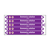 Brady Pipe markers: Ammonia solution   English   Acids and Alkalis