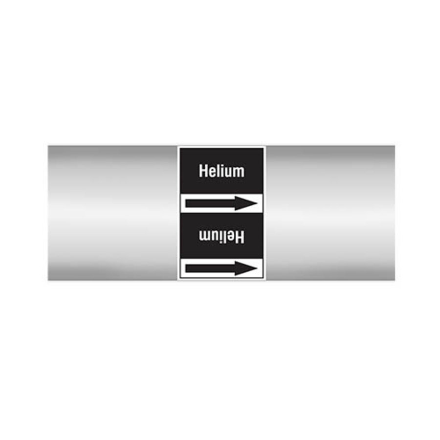 Pipe markers: Helium | Dutch | Non flammable liquids