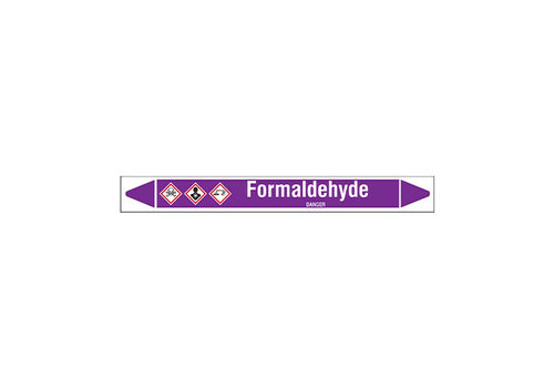 Pipe markers: Formaldehyde | English | Acids and Alkalis
