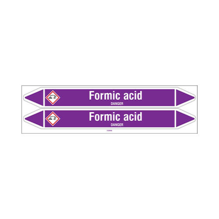 Pipe markers: Formic acid | English | Acids and Alkalis