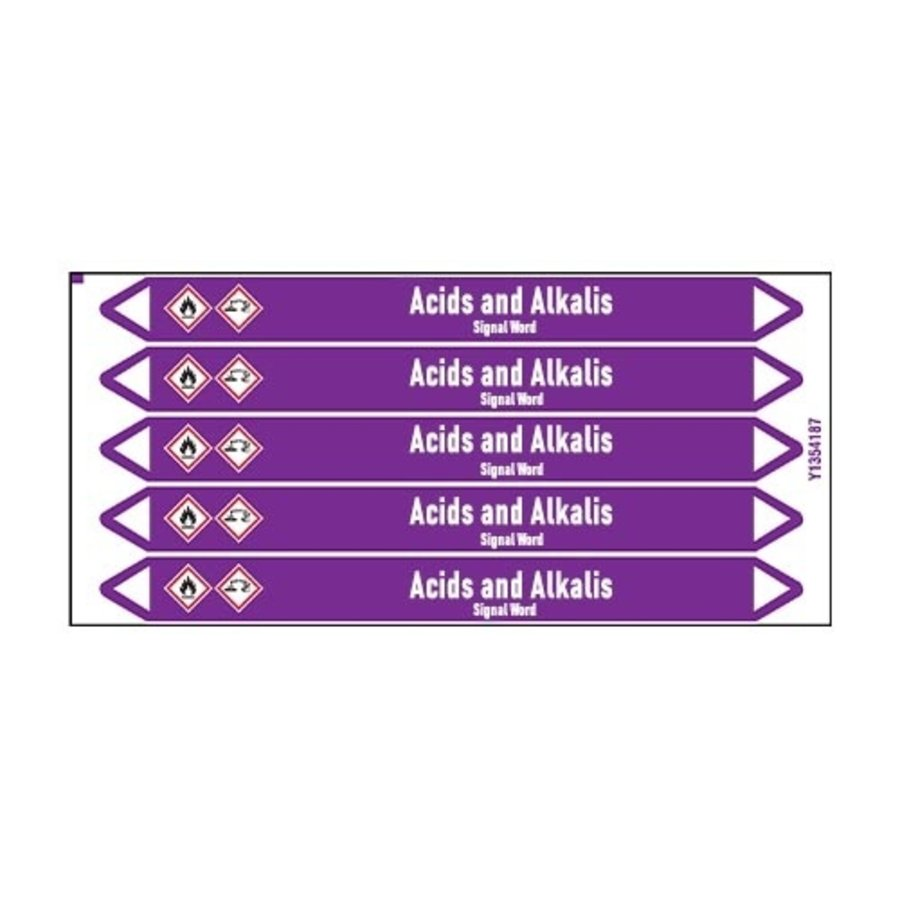 Pipe markers: Phenol | English | Acids and Alkalis