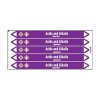 Pipe markers: Sodium hypochlorite   English   Acids and Alkalis