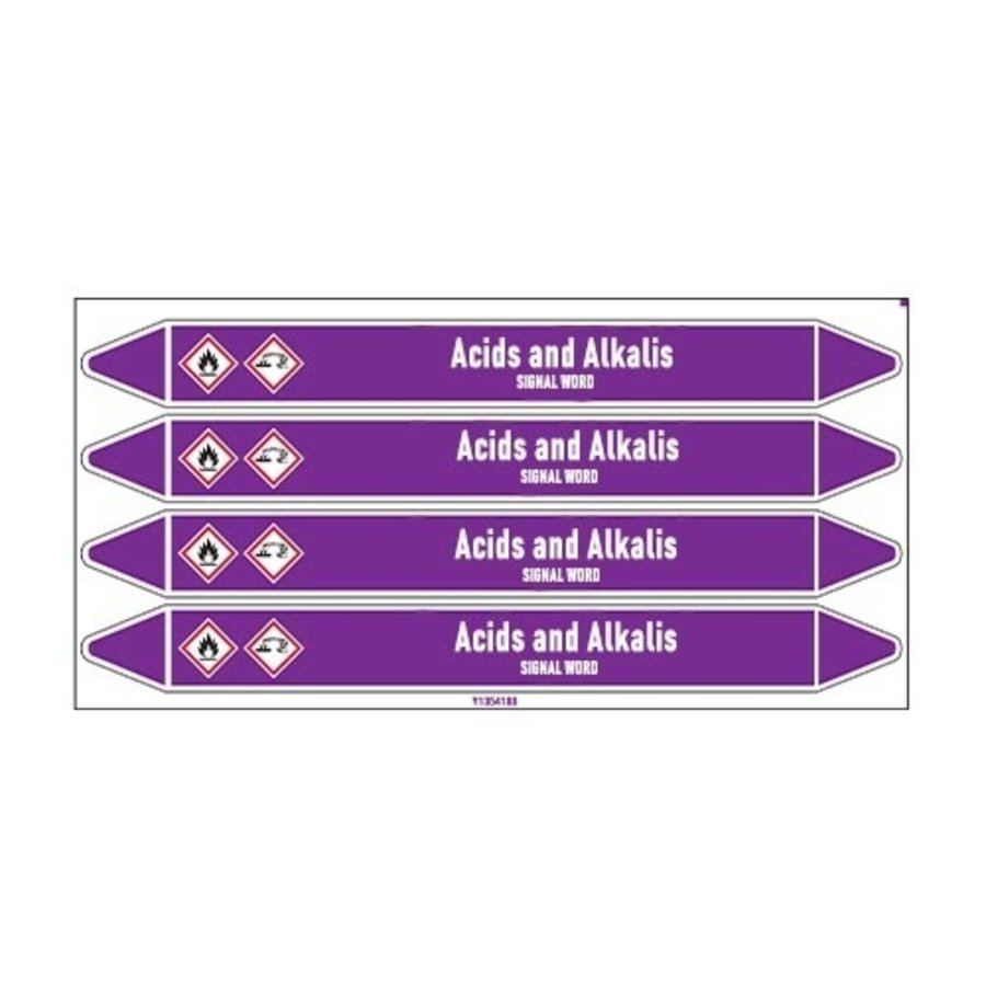 Pipe markers: Sodium nitrite | English | Acids and Alkalis