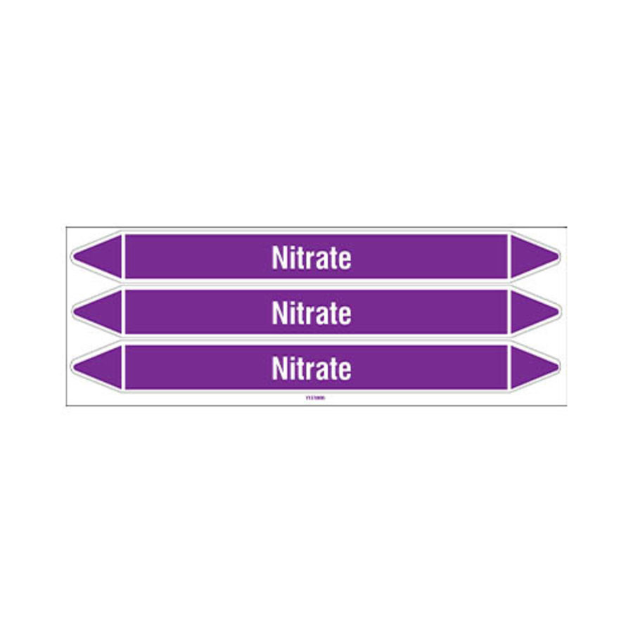 Pipe markers: Nitrate | English | Acids and Alkalis