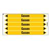 Brady Pipe markers: Acetyleen | Dutch | Gas