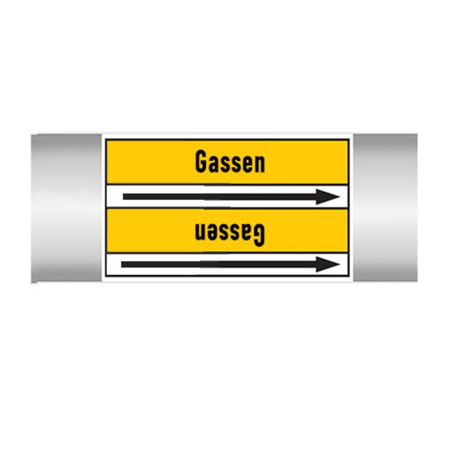 Pipe markers: Ammoniak | Dutch | Gas