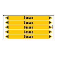 Pipe markers: Droog stikstofgas | Dutch | Gas