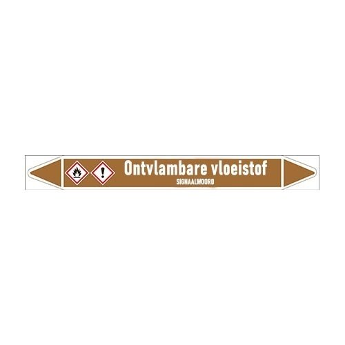Pipe markers: Super | Dutch | Flammable liquids