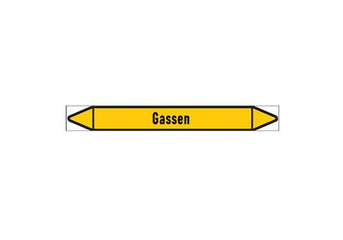 Pipe markers: Zwaveldioxide | Dutch | Gas